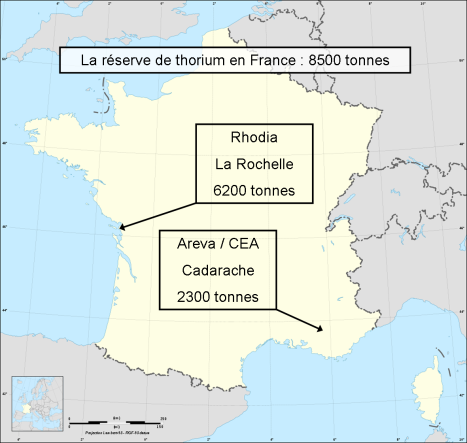 La réserve de thorium en France - 8500 tonnes